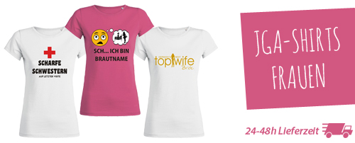 pretty nice 92b74 5b176 JGA T-Shirts drucken lassen. Bei jga-shirts-drucken.de